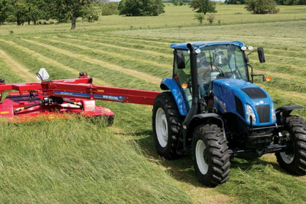New Holland | Discbine® 310/312 Center-Pivot Disc Mower-Conditioners | Model Discbine® 310 (Chevron Rubber) for sale at Sorum Tractor Co., Inc.